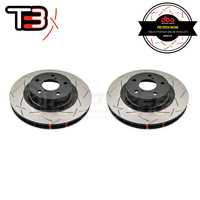 DBA T3 4000 Series Slotted Front Rotors PAIR - Subaru WRX/STI 94-98/WRX 08/Forester SF 97-02/Impreza/Toyota 86 GT