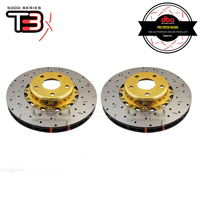 DBA HD 5000XS Gold Series 2-Piece Slotted Front Rotors PAIR - Subaru WRX 01-07/WRX 09-14/Forester SG/SH/BRZ/Toyota 86 GTS