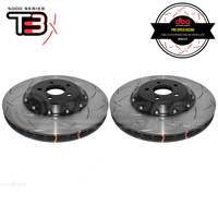 DBA T3 5000 Series 2-Piece Slotted Front Rotors PAIR - Ford Mustang GT FM/FN 15-19 (6 Piston Brembo)