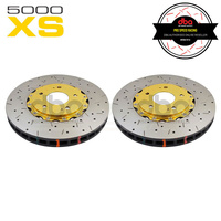 DBA HD 5000XS Gold Series 2-Piece Slotted Front Rotors PAIR - Mitsubishi Evo 5-9 (Brembo)