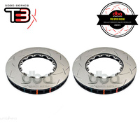 DBA T3 5000 Series 2-Piece Slotted Front Rotor Replacement Rings PAIR - Mitsubishi Evo X MR (Brembo - OEM 2-Piece Disc)