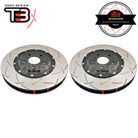 DBA T3 5000 Series 2-Piece Slotted Front Rotors PAIR - Nissan GT-R R35 (Brembo)