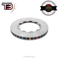 DBA T3 5000 Series 2-Piece Slotted Front Rotor Replacement Rings PAIR - Nissan GT-R R35 (Brembo - OEM 2-Piece Disc)