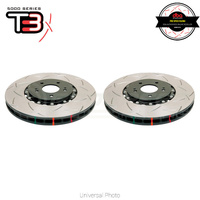 DBA T3 5000 Series 2-Piece Slotted Front Rotors PAIR - Porsche 911 996, 997/Boxster 718/Cayman 718