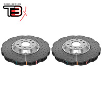 DBA Wave XD 5000 Silver Series 2-Piece Slotted Front Rotors PAIR - VW Golf Mk5/Mk6/Passat B6/B7/Scirocco/Audi A3 8P/S3 8P
