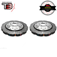 DBA Wave XD 5000 Silver Series 2-Piece Slotted Front Rotors PAIR - Audi RS3 8V 15-17 (Hatch)