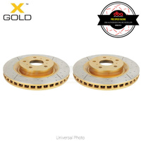 DBA X Gold Series Slotted Front Rotors PAIR - Subaru WRX/STI 94-98/WRX 08/Forester SF 97-02/Impreza/Toyota 86 GT