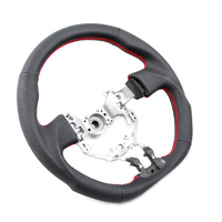 DTM Performance Toyota 86/Subaru BRZ D Shape Steering Wheel Leather w/Red Stitching