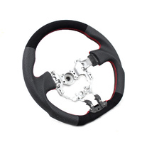 DTM Performance Toyota 86/Subaru BRZ D Shape Steering Wheel Leather/Suede w/Red Stitching