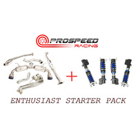 86/BRZ ENTHUSIAST STARTER PACK INVIDIA N2 HEADER BACK EXHAUST + SILVERS NEO MAX S COILOVERS