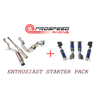 ENTHUSIAST STARTER PACK INVIDIA N1 Turbo back Exhaust + SILVERS NEOMAX S COILOVERS 5X100 WRX / STI
