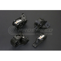 Hardrace Hardened Engine Mount 4Pcs Set - Honda Civic, CRX EF6/7/8 MT, SOHC)
