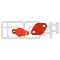 IAG Performance Air Pump Block Off Plates (06-14 WRX/06-18 STI/07-09 LGT) - Red Finish