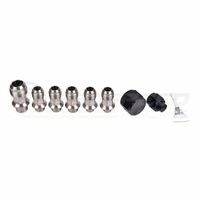 IAG Performance Stainless Steel AN Breather Fitting Set (06-14 WRX/06-18 STI/03-13 FXT/04-09 LGT)