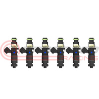 Raceworks Set of 4 1200cc Full Length Fuel Injectors 14mm/Denso - Nissan Skyline R32, R33, R34