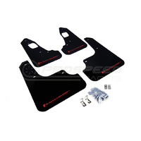 Rally-Armor 08-15 Mitsubishi EVO X Black/ Red