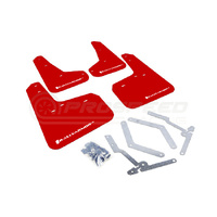 Rally Armor UR Mud Flap Red/White Logo - Ford Focus LW/LZ 11-18 (Inc ST/RS)