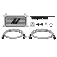 Mishimoto Oil Cooler Kit Silver Non-Thermostatic - Nissan 350Z/Skyline V35 Coupe/Infiniti G35 V35 Coupe