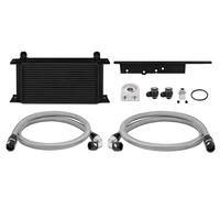 Mishimoto Oil Cooler Kit Black Non-Thermostatic - Nissan 350Z/Skyline V35 Coupe/Infiniti G35 V35 Coupe