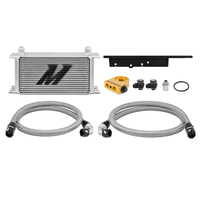 Mishimoto Oil Cooler Kit Silver Thermostatic - Nissan 350Z/Skyline V35 Coupe/Infiniti G35 V35 Coupe