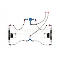 RCM New Age Impreza Parallel Fuel Rail Kit inc lines & SX Regulator for rotated turbo install JDM 2002+
