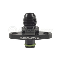 Raceworks Fuel Rail Adapter AN-6 Suits Mazda/Nissan/Subaru