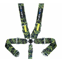 NRG INNOVATIONS SFI-5 POINT RACING ADJUSTABLE HARNESS/CAM LOCK CAMO
