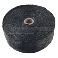 "Torque Solution Fiberglass Exhaust Wrap (Black): Universal 1"" x 50'"