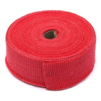 "Torque Solution Fiberglass Exhaust Wrap (Red): Universal 1"" x 50'"
