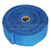 "Torque Solution Fiberglass Exhaust Wrap (Blue): Universal 2"" x 50'"