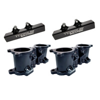Torque Solutions Black Billet TGV Deletes suit 08-14 WRX/08-18 STI/LGT 07-09/FXT 08-13 with Fuel Rails black