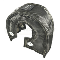 Torque Solution Thermal Turbo Blanket (Carbon Fiber): Fits T3, T3/T4, T25, T28, GT25, GT28, GT30, GT32, GT35, GT37 Turbo Back Housings